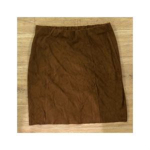 Cotton candy LA - Brown suede mini skirt